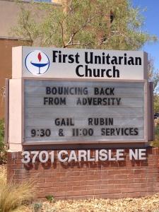 First Unitarian Church Sign