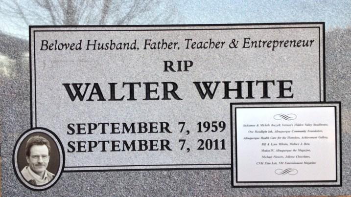 Walter White headstone