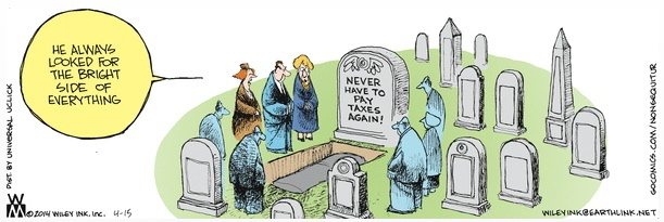 Non Sequitur Death and Taxes