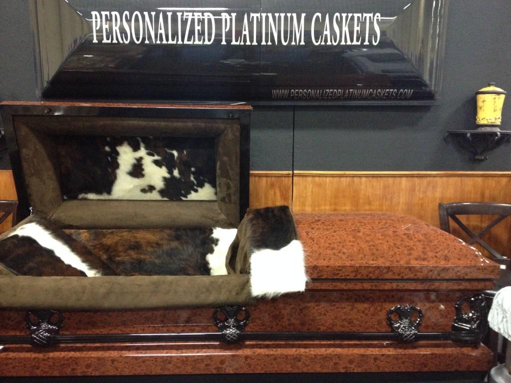 Rancher Personalized Platinum Casket