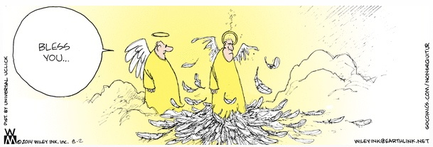 Non Sequitur Angel Sneeze Cartoon
