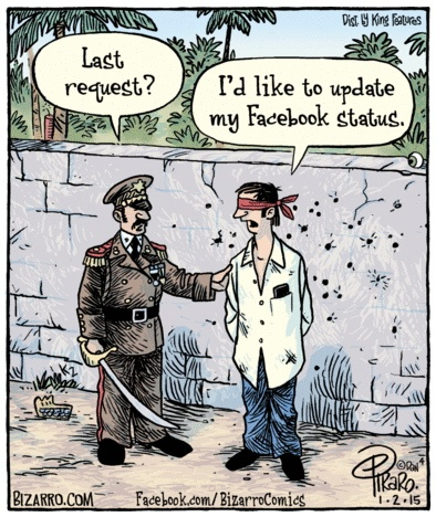 Bizarro Facebook Last Request
