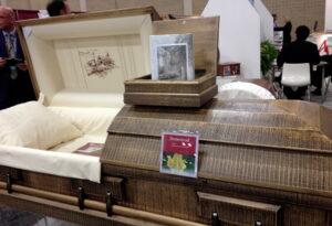Aurora Homestead casket