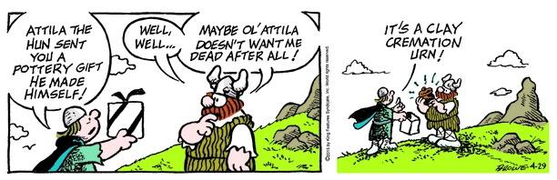 Hagar the Horrible cremation urn cartoon