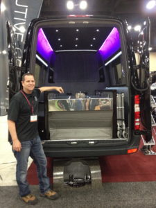 Dave McPhail and the Hearse/Family Coach combo from Executive Coach Builders