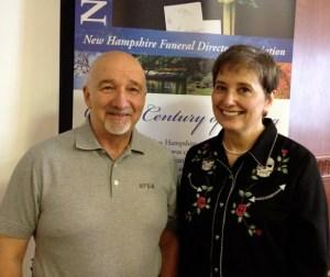 Peter Morin, NHFDA Executive Director, and Gail Rubin, CT