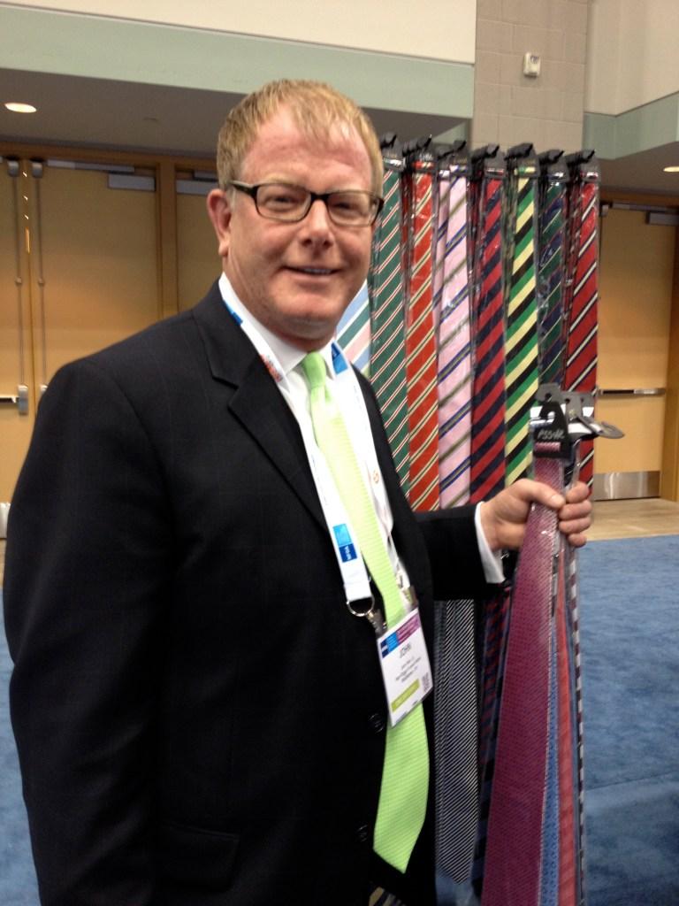 John Herr Jr. with ties