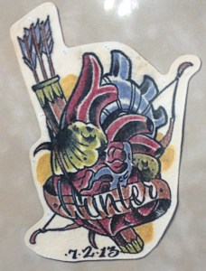Hunter Heart Tattoo
