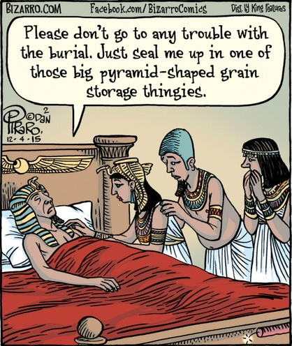 Bizarro Egyptian Pharoah Death