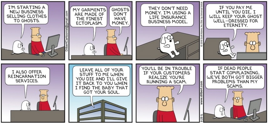 Dilbert Ghost Scam