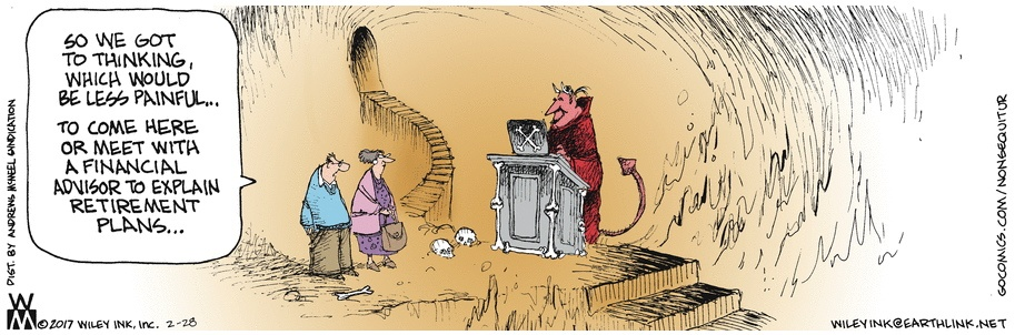 Non Sequitur Hell or Financial Advisor