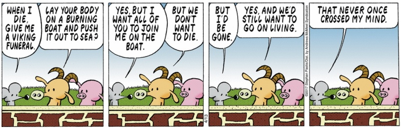 Pearls Before Swine Viking Funeral