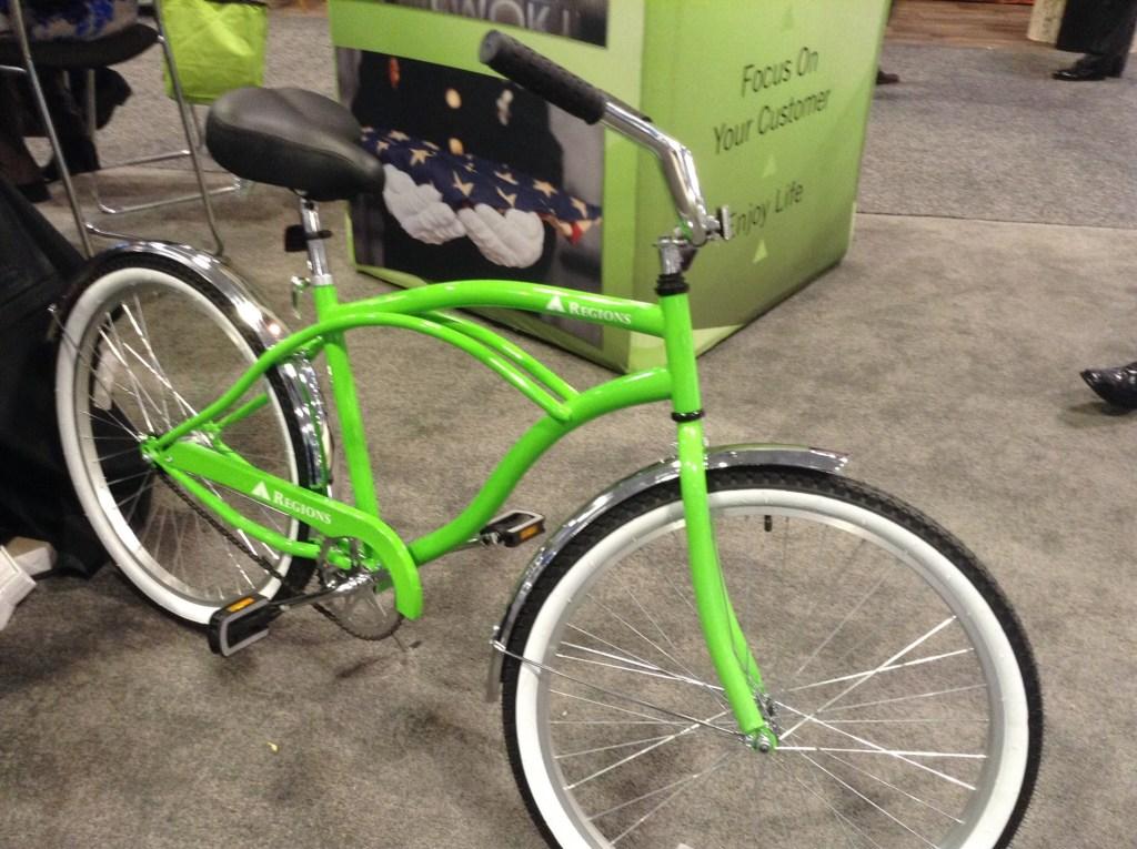 Regions Bank green bike