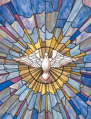 Church Window Film Dove image