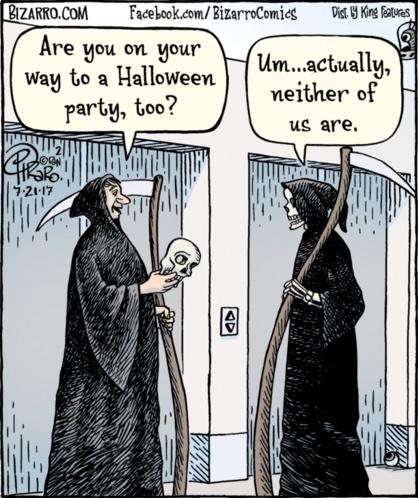 Bizarro Grim Reaper Halloween Party