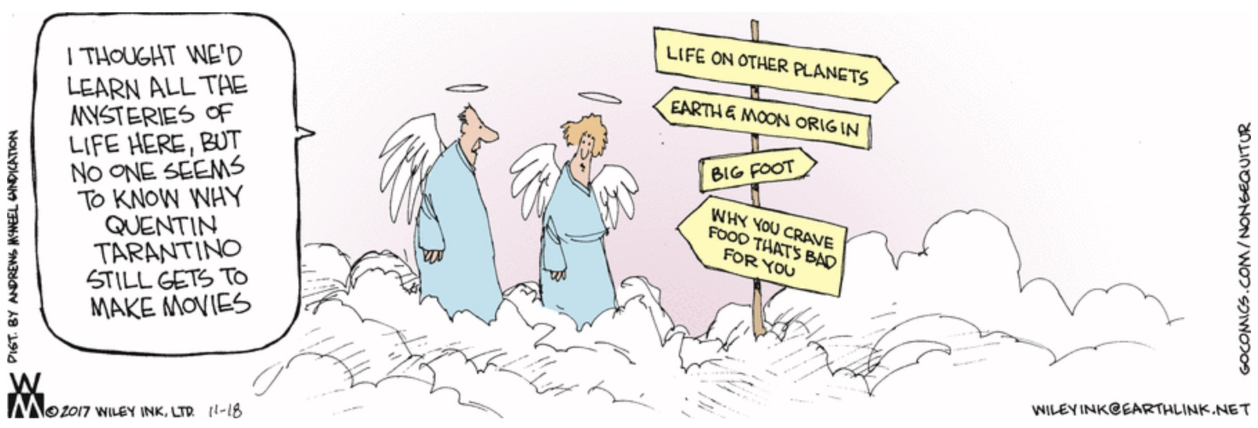 Non Sequitur Mysteries of Life