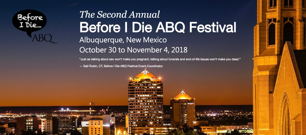Before I Die ABQ 2018 Banner