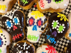 Death Cafe Sugar Skull Donuts