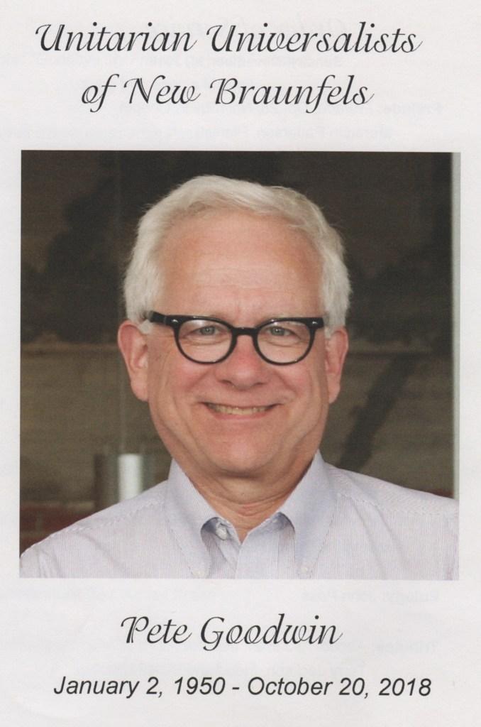 Pete Goodwin memorial program