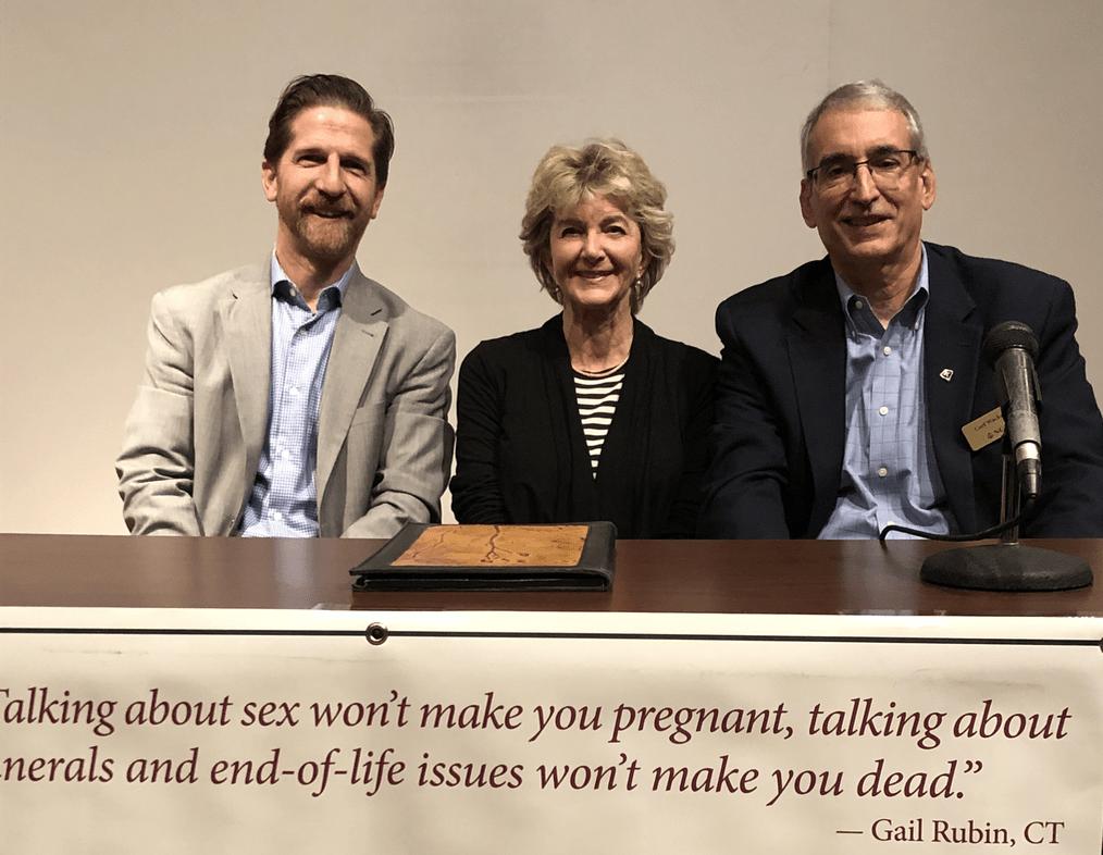 Panelists Jim Plitz, Betsy Ehrenberg and Carl Wackerle