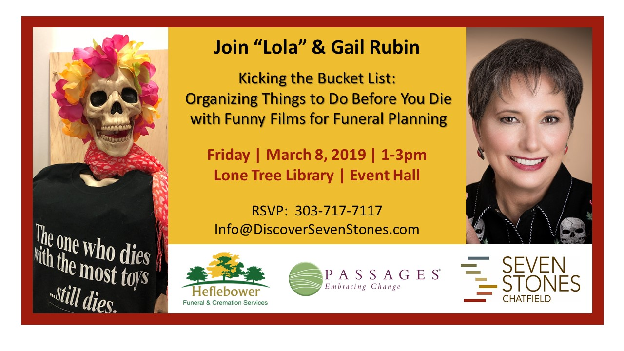 Flyer for Lone Tree Library talk March 8, 2019