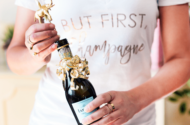 But First, Champagne- Just Fab x Betches collab tee
