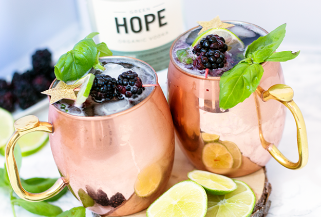 Blackberry Basil Moscow Mule