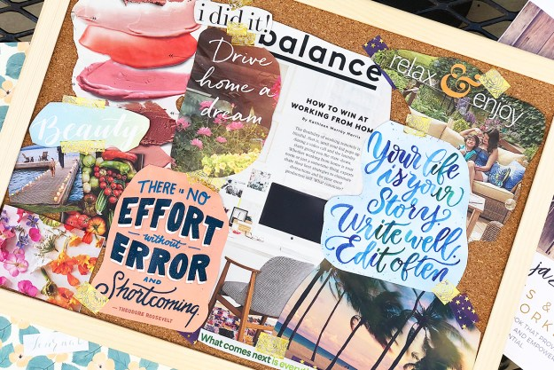Vision Board with Jazzythings & Kroger at Amplify Retreat | A Good Hue #AmplifyOC