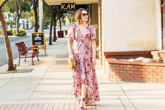 Summer Style: Floral Maxi Dress | A Good Hue