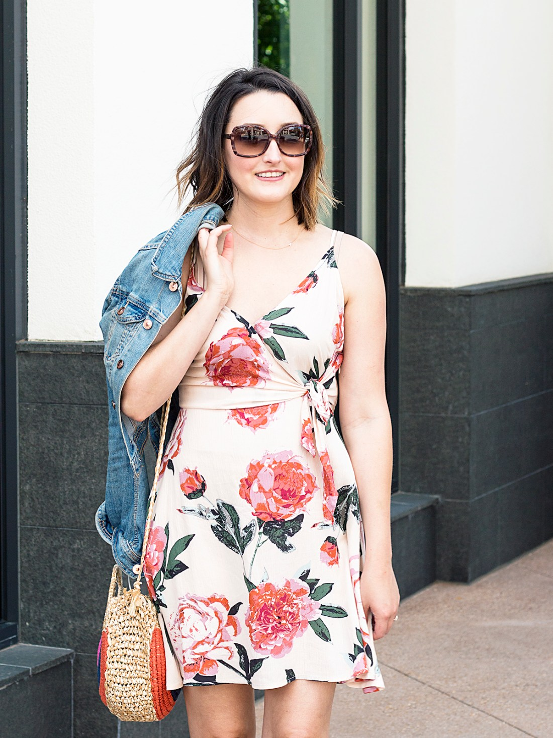 Summer Outfit: Blush Floral Dress | A Good Hue