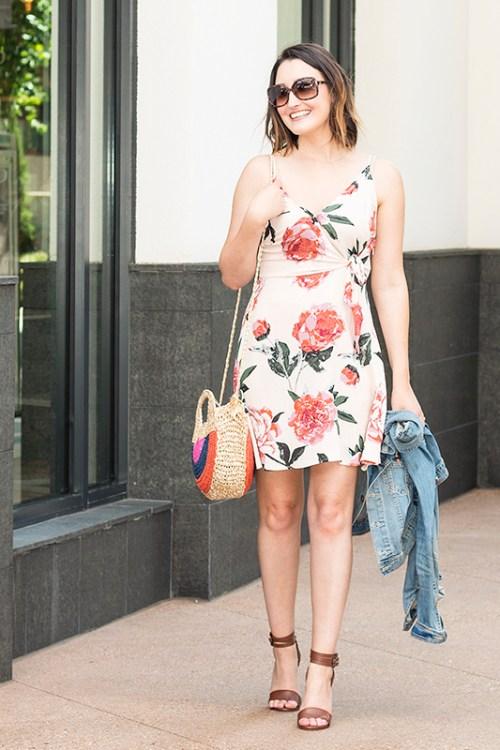 Blush Floral Dress in Atlanta