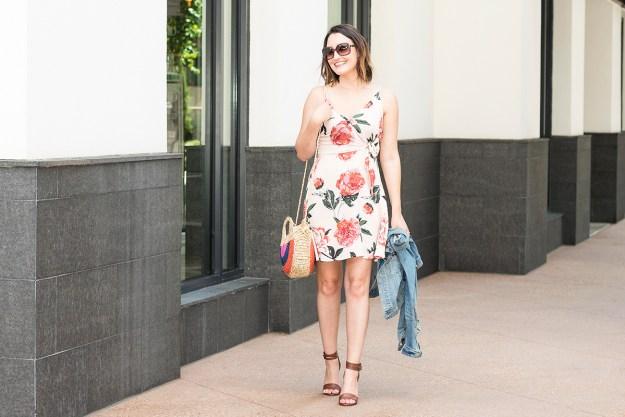 Summer Outfit: Blush Floral Dress | A Good Hue