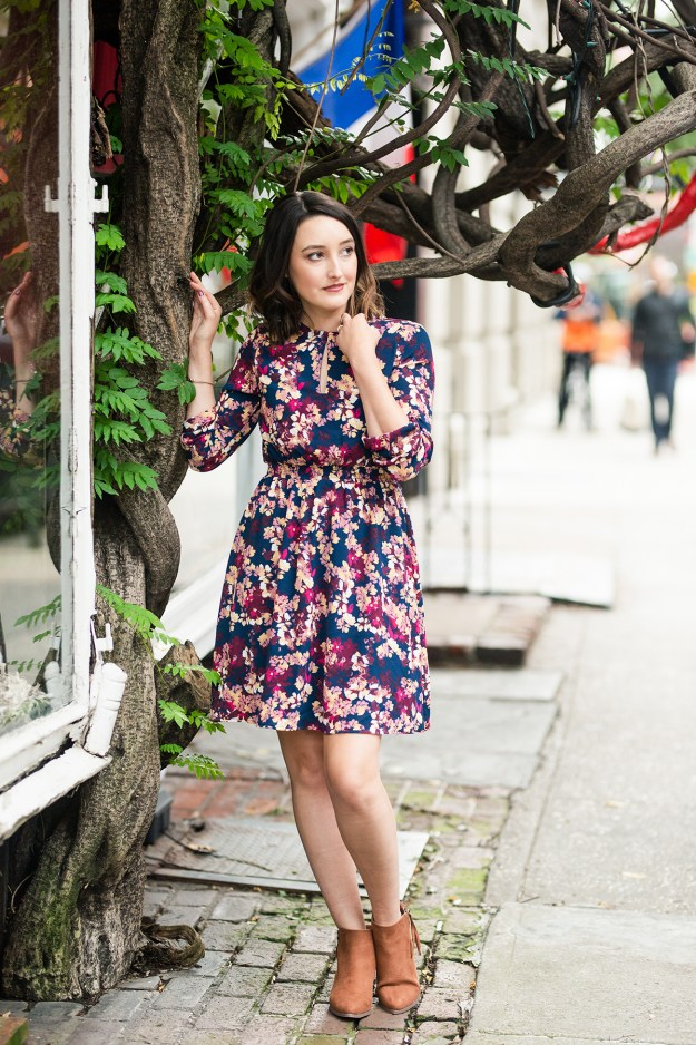 Cold-Weather Must-Have Coat & Floral Dress   A Good Hue