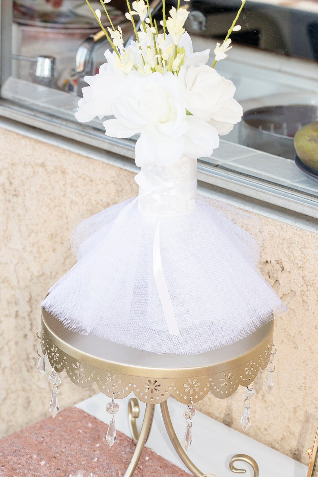 Rosé and Bubbly Bridal Shower Floral Centerpiece | A Good Hue