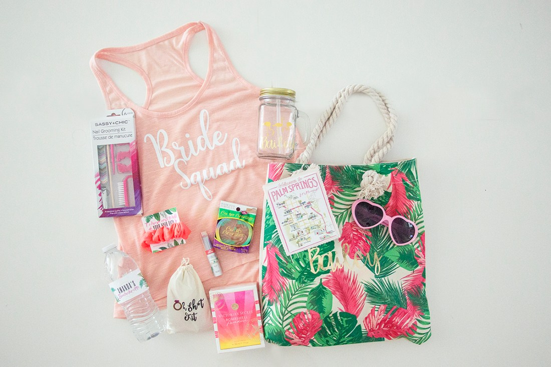 Palm Springs Bachelorette Party- Gift Bags | A Good Hue