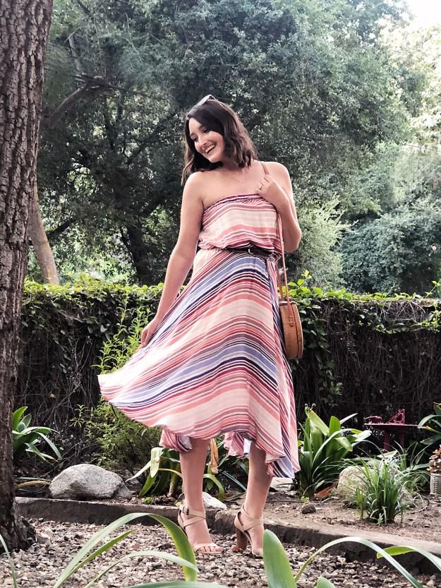 Casual Striped Summer Dress | A Good Hue