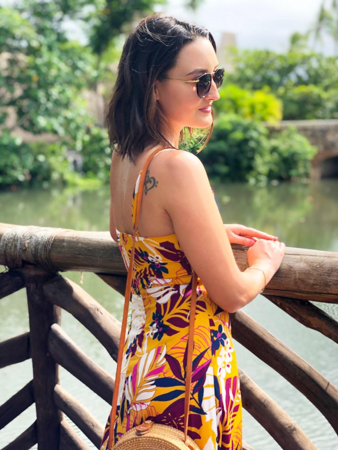Lulu's Tropical Palm Print Dress | A Good Hue