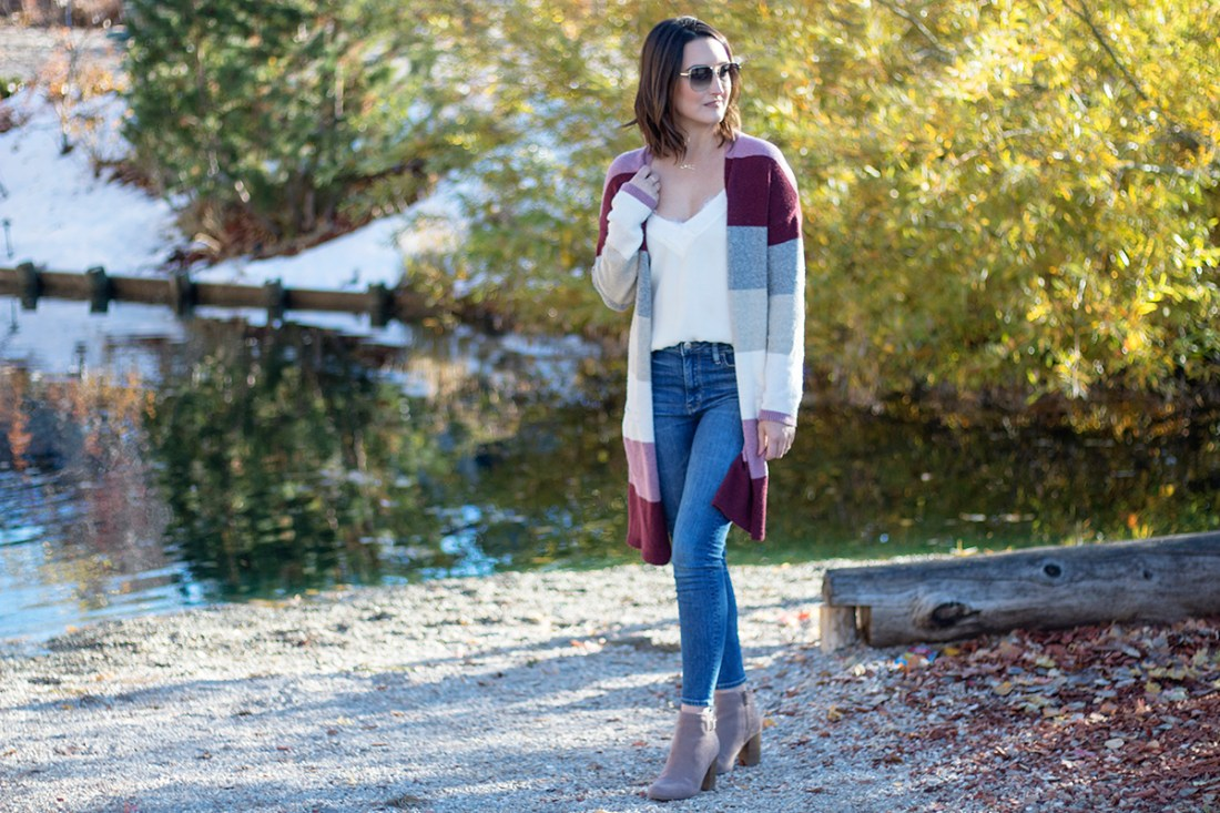Winter Trend: Color Block Sweater Outfits | A Good Hue