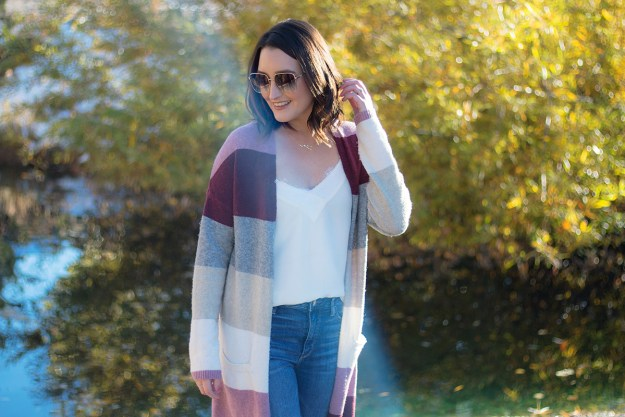 Affordable Color Block Sweater Cardigan from Kohl's | A Good Hue