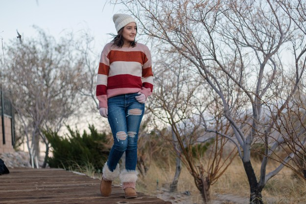 Winter Trend: JCPenney Color Block Sweater | A Good Hue