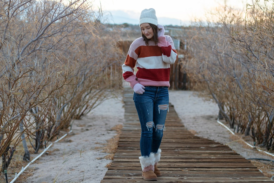 JCPenney Color Block Sweater | A Good Hue