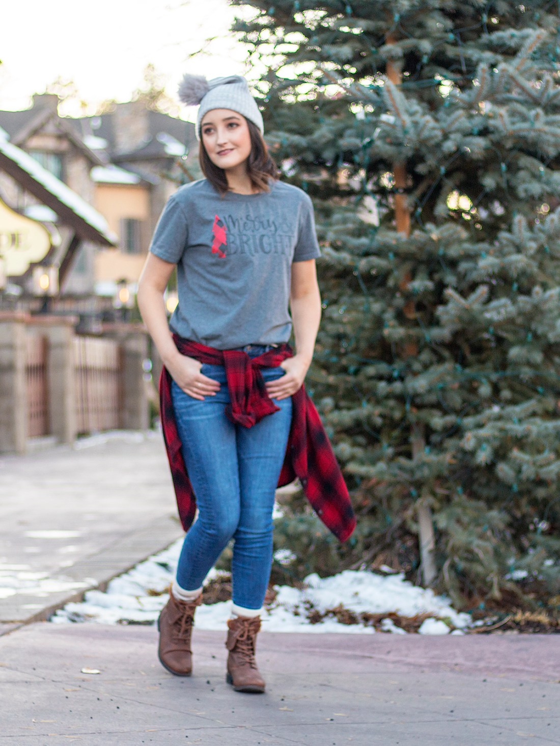 Merry and Bright Graphic Tee | A Good Hue