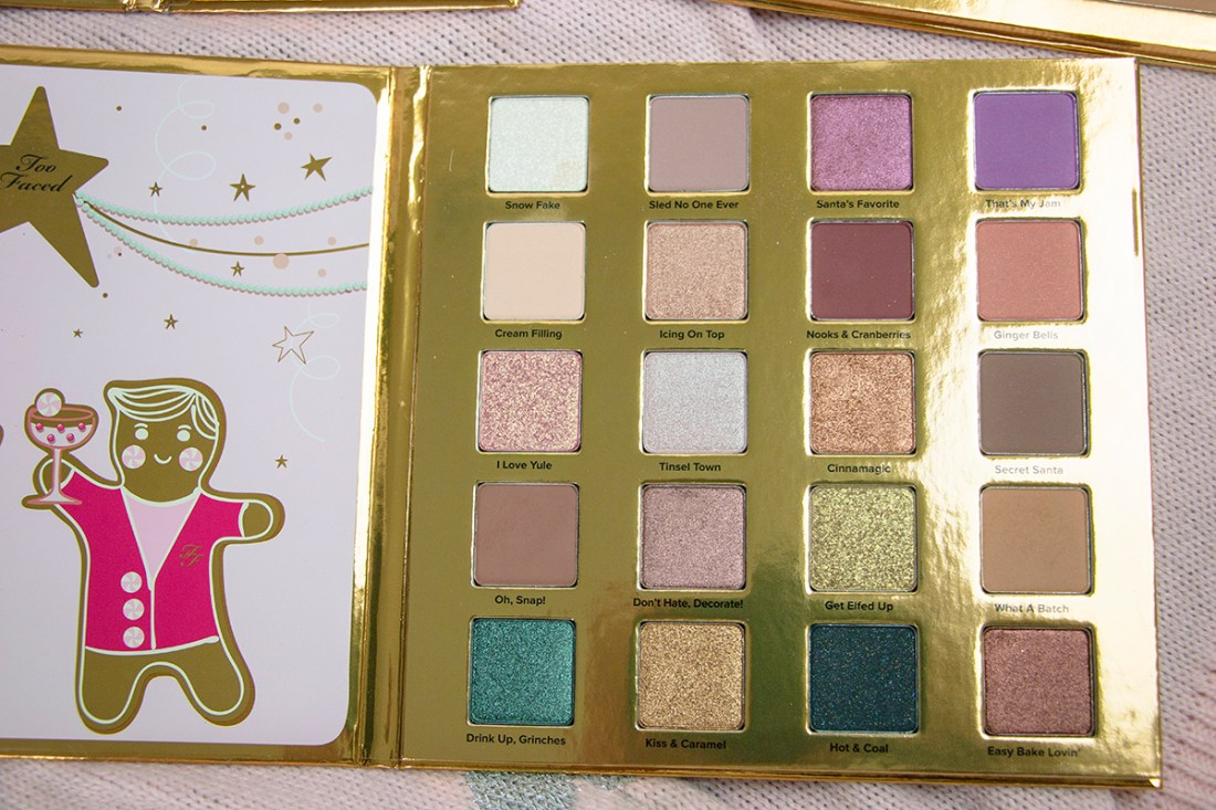 Too Faced Christmas Cookie House Party Palette Review | A Good Hue