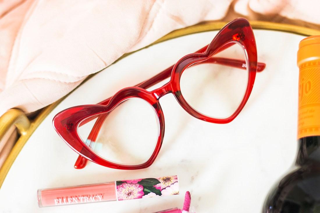 Zenni Heart-Shaped Blue Light Glasses | A Good Hue