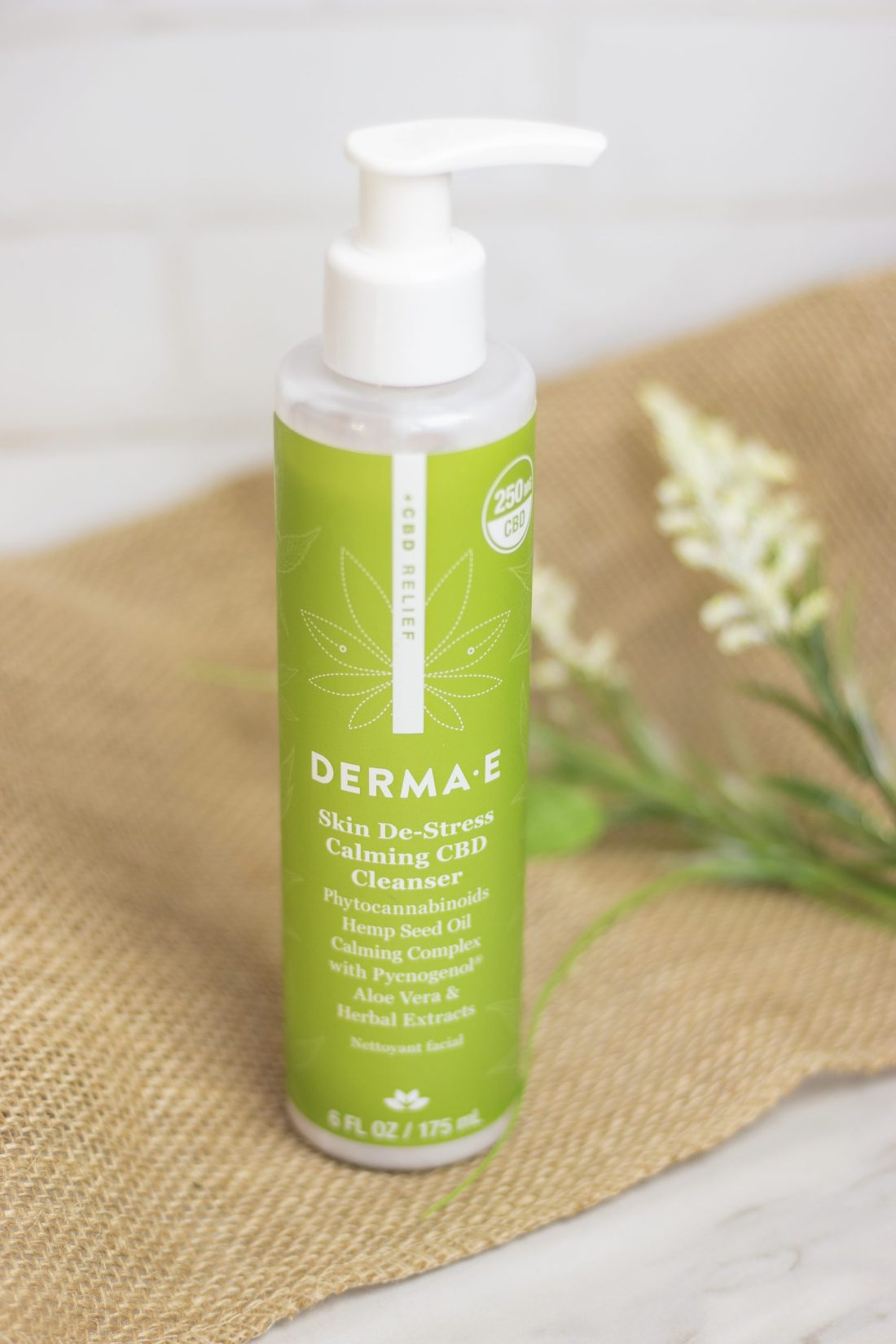 Review: DERMA E CBD Relief Skin Destress Calming Cleanser   A Good Hue