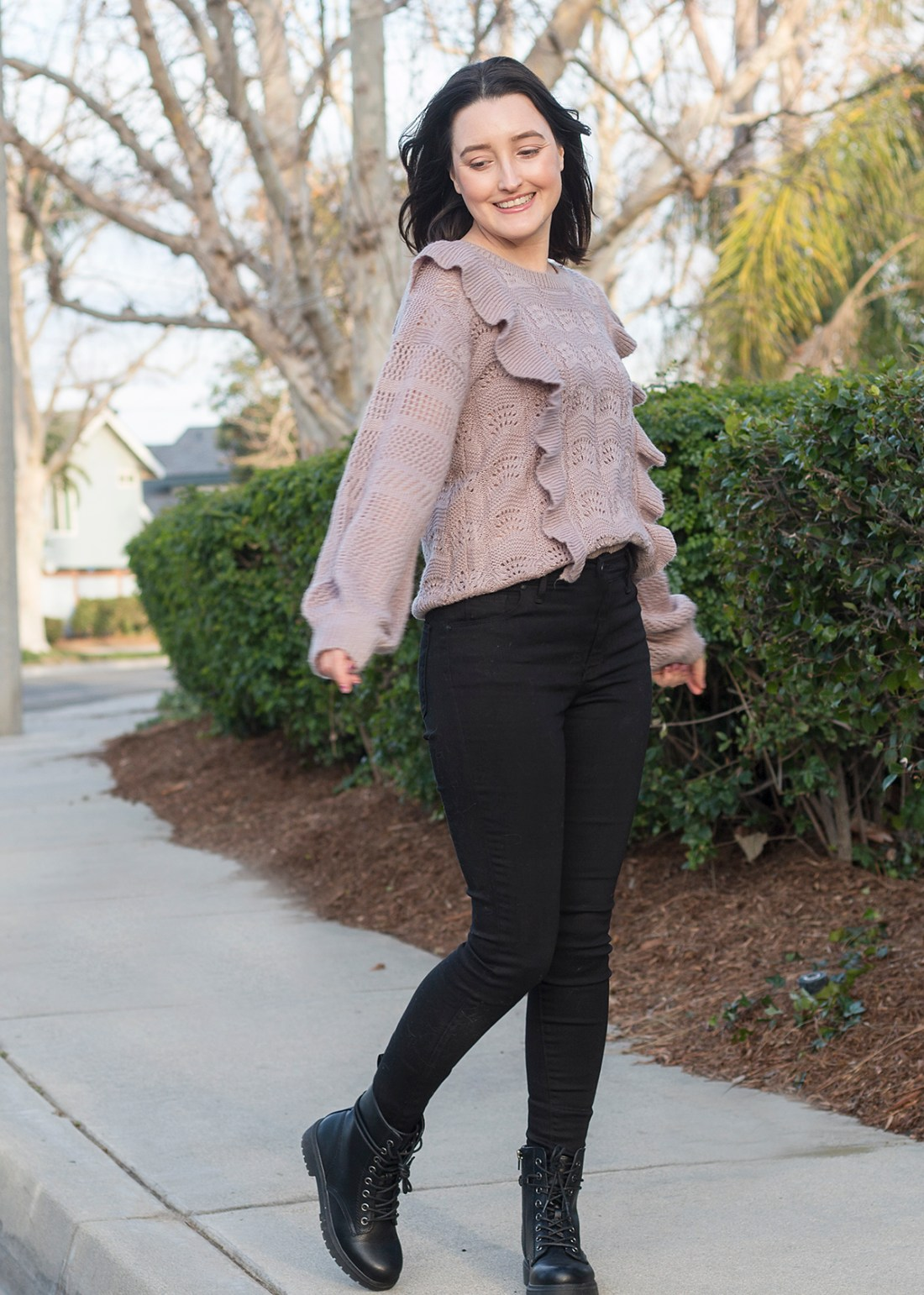 Winter Style: Ruffled Sweater | A Good Hue