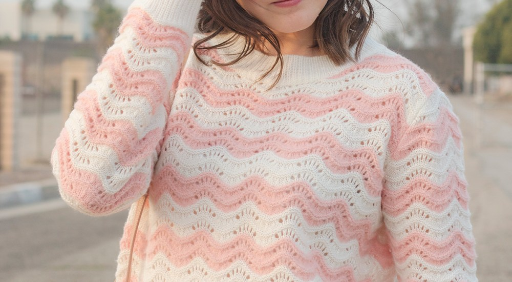 Pink Striped Sweater