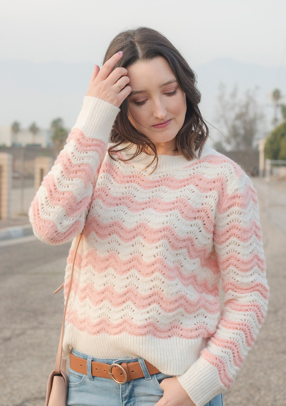 Knit Pink Striped Sweater | A Good Hue