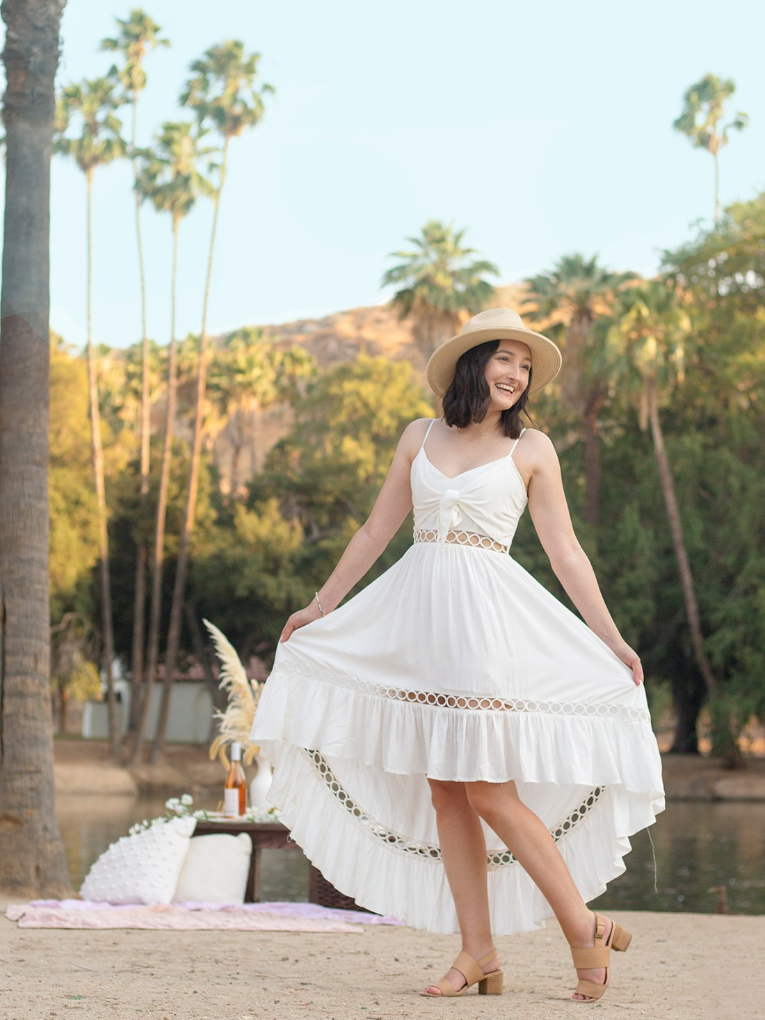 All Out Chic Boutique White Sand Dress | A Good Hue