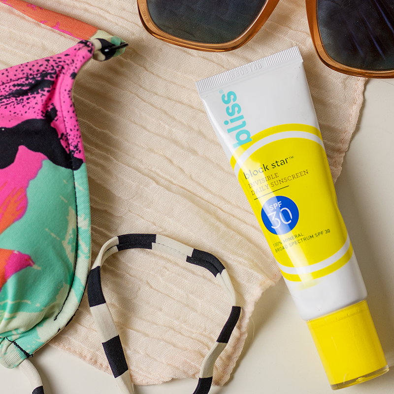 Bliss Block Star Invisible Daily Sunscreen Review | A Good Hue